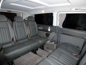 Liverpool Viano minibus Interior